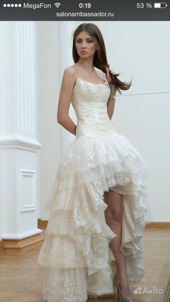 Свадебные Платья Короткое Спереди