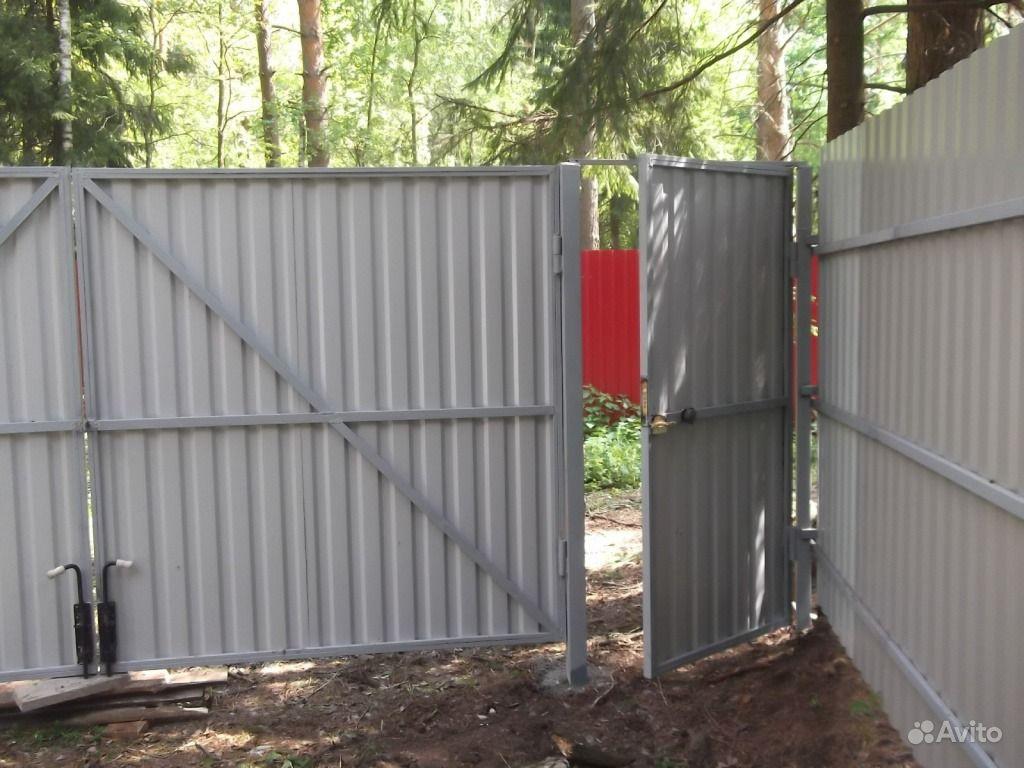 Ворота из профнастила цена смонтировать задвижные ворота в люберцах