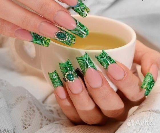 Дизайны ногтей жидкие камни и литье фото
