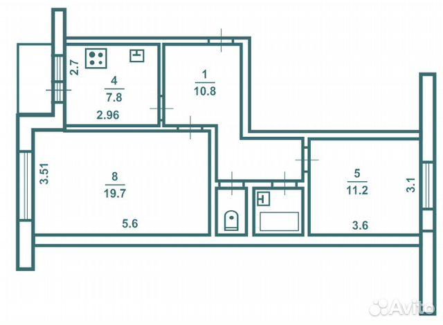 планировка 4-х комнатной квартиры брежневка