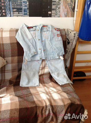 продаю в Геленджик - Джинсовый костюм в разделе Детская одежда и обувь сайта доски бесплатных объявлений AVITO.ru