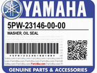 Yamaha 5PW-23146-00-00 washer, OIL seal
