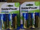12 батареек D/LR20 Golden Power Alkaline