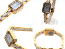 Chanel Premiere Ceramic Yellow Gold Diamonds H2435