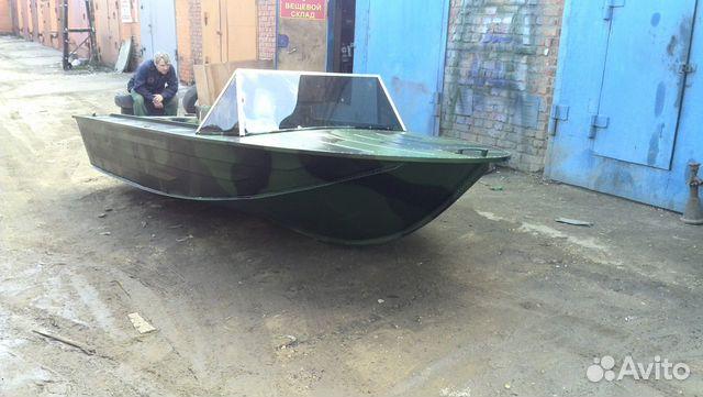 купить дюралевую лодку с мотором недорого бу