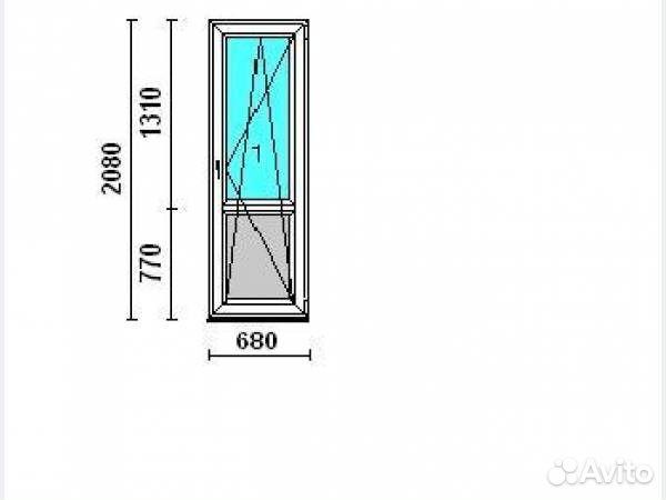 Балконная дверь кве etalon 760х2050 купить в московской обла.