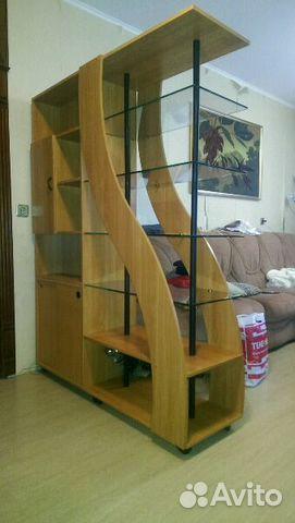 Двухсторонний шкаф перегородка в комнате