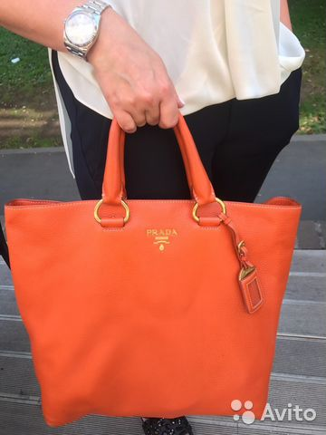 6d30e5e243e8 Оранжевая сумка Prada оригинал | Festima.Ru - Мониторинг объявлений