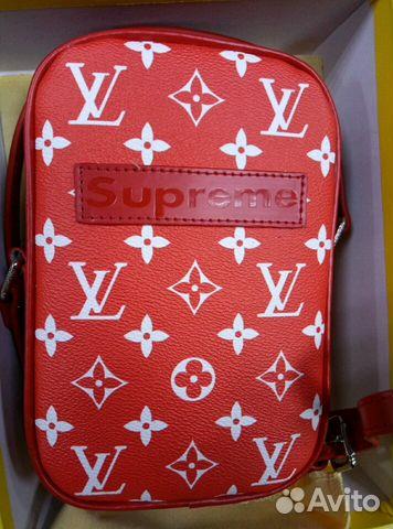 eb119f50de2c Новая барсетка Louis Vuitton Supreme красный   Festima.Ru ...