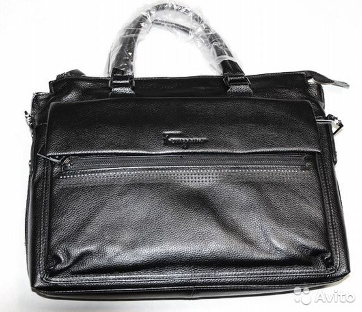 1c9717cf0314 Мужская кожаная сумка S Ferragamo black new A4 купить в Москве на ...