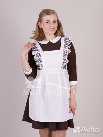Платье с фартуком на последний звонок, 14-414к купить в Москве на ... 44b2c9b2b96