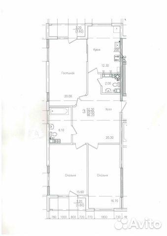 3-к квартира, 93 м², 4/8 эт. 84012521099 купить 3
