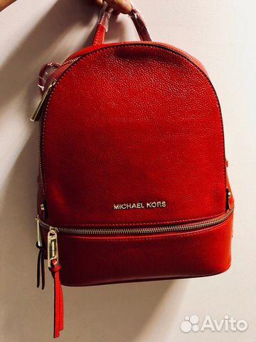 d150c890b41a Красный рюкзак Michael kors