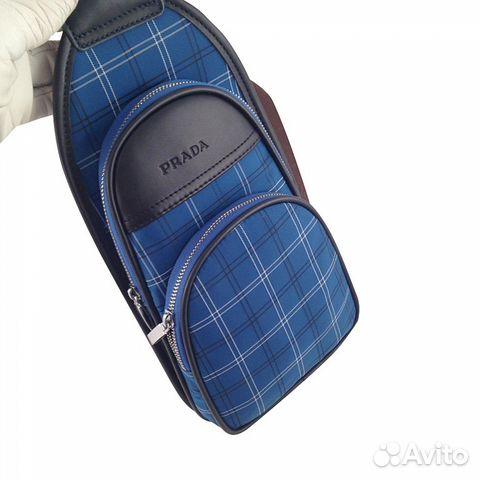 Сумка рюкзак мужская женская Prada арт.021-5 купить в Москве на ... 7d614f608a5