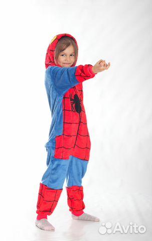 Детская пижама кигуруми Человек-Паук  788c07413d9c4