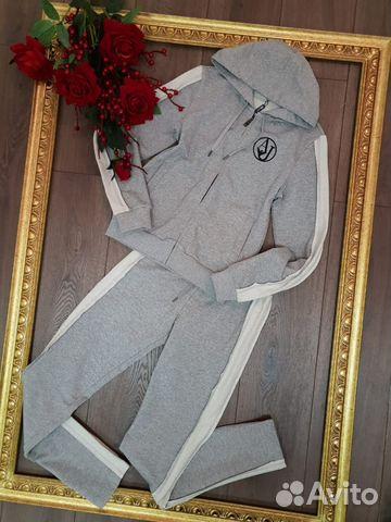 2be7b5a46ff1 Спортивный костюм с лампасами в сером, синем, черн купить в Москве ...