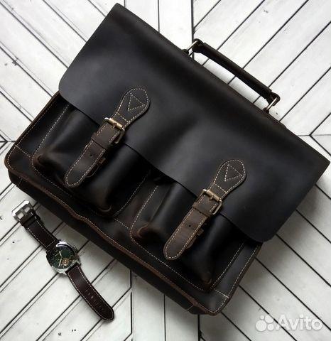 e9ac7b7f55f2 Большой новый кожаный мужской портфель Sobranie купить в Санкт ...