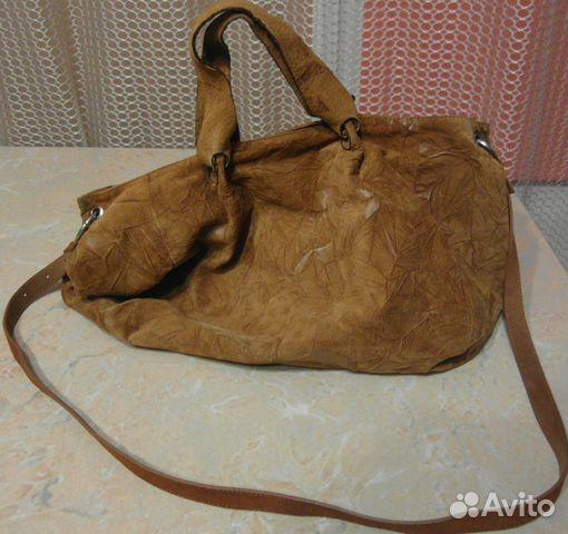 7dccb67a8918 Сумка натуральная кожа рыжая б\у купить в Астраханской области на ...