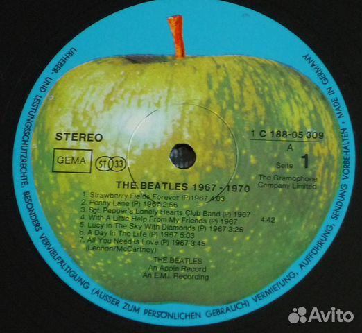 The Beatles 1967-70 2LP винил 89827156165 купить 5