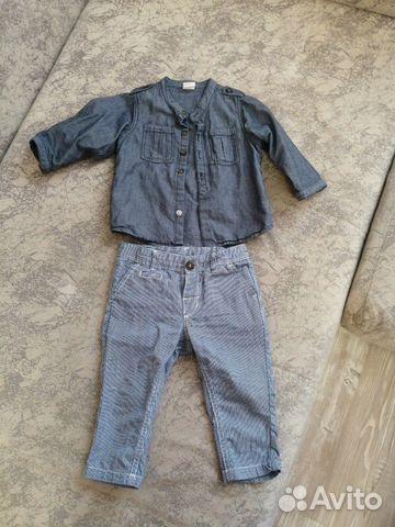 Брючки и рубашка размер 74 89050840404 купить 1