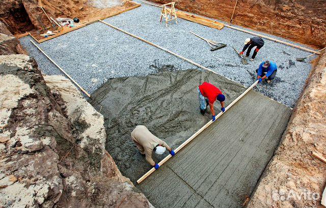 Заливка бетона услуги сыпучий бетон