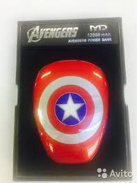84942303606 Power Bank Avengers 12000 mAh Капитан Америка