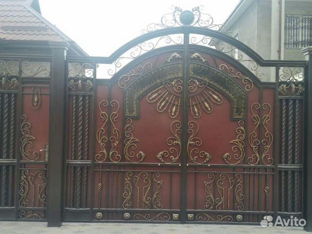 Ворота кованые распашные Кахун