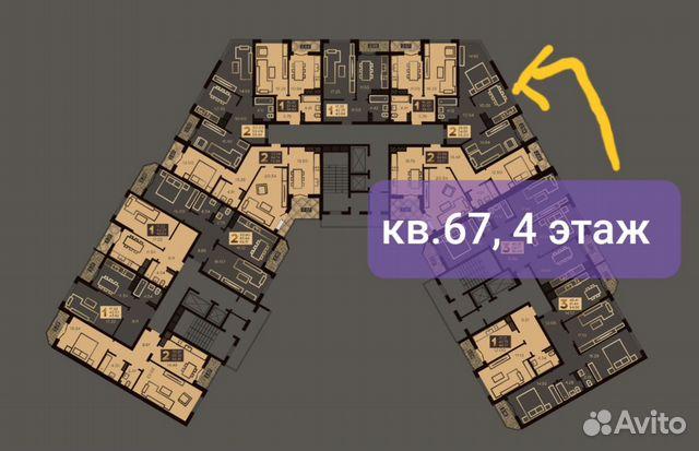 2-к квартира, 54.9 м², 4/10 эт. купить 4