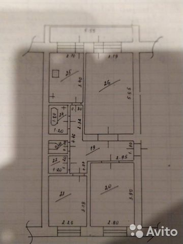 3-rums-lägenhet 55 m2, 1/2 FL.  89058772208 köp 7