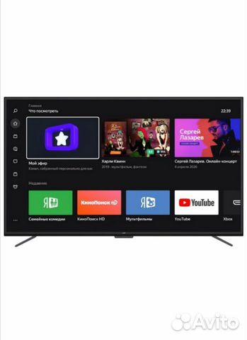 Телевизор 4K Leff 55 Smart HDR голосовое управлен  89085075350 купить 2