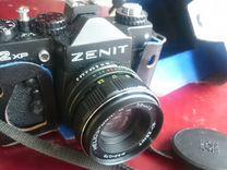 Фотоаппарат Зенит с Гелиосом 44 и вспыш Flash-FIL