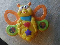 Бабочка музыкальная-погремушка