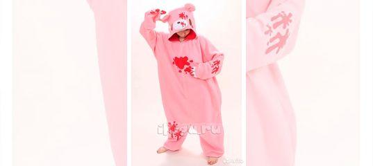 Пижама кигуруми медведь розовый купить в Москве на Avito — Объявления на  сайте Авито 35df7aee9113c