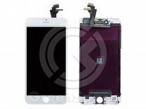 Дисплей для iPhone 6 Plus +тач белый с рамкой AAA