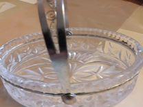 Хрустальная ваза ладья