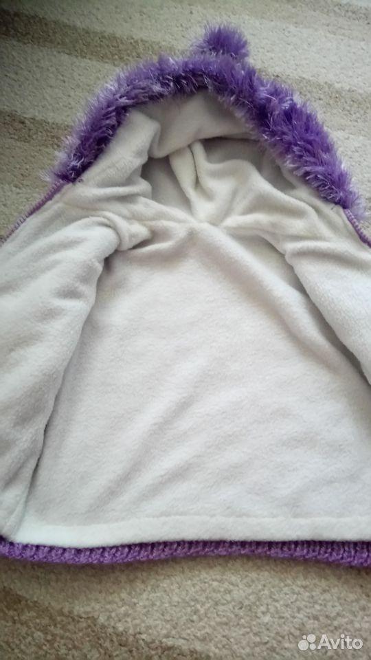 Куртка вязаная утепленная, р. 68-74  89213578617 купить 3