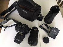 Фотоаппарат зеркальный Nikon D5100 18-55+55-200