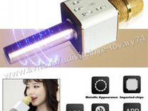 Караоке микрофон с Bluetooth динамиком, золото