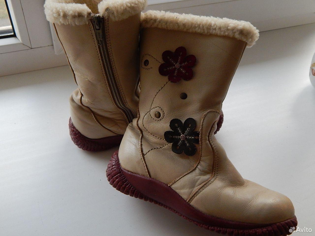 Сапоги кожаные, теплые  89614983783 купить 3