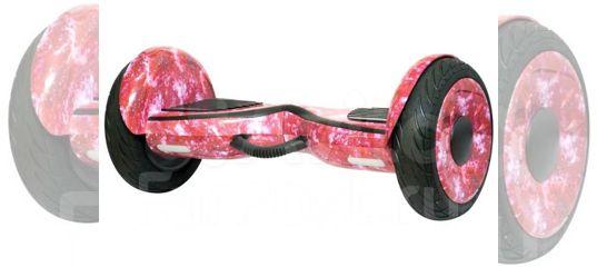 Гироскутер розовый с цветами