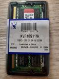 Оперативная память kingston KVR16S11/8 DDR3 - 8гб