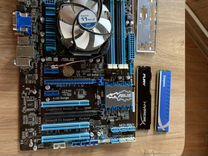 Материнская плата, процессор, кулер, 2х4гб озу — Товары для компьютера в Санкт-Петербурге