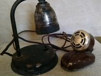 Лампа фотопроявитель и микрофон СССР винтаж