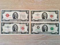 2 Доллара США 1928, 1953, 1963, 1976 UNC