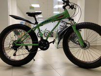 Велосипед Fat Bike нескладной крутой зеленый