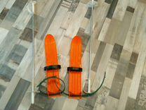 Лыжи с палками для малышей