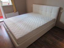 Кровать новая кожаная